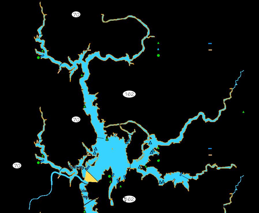 lake oroville camping map Lake Oroville Camping And Boating Map Lake Oroville Oroville Butte County lake oroville camping map