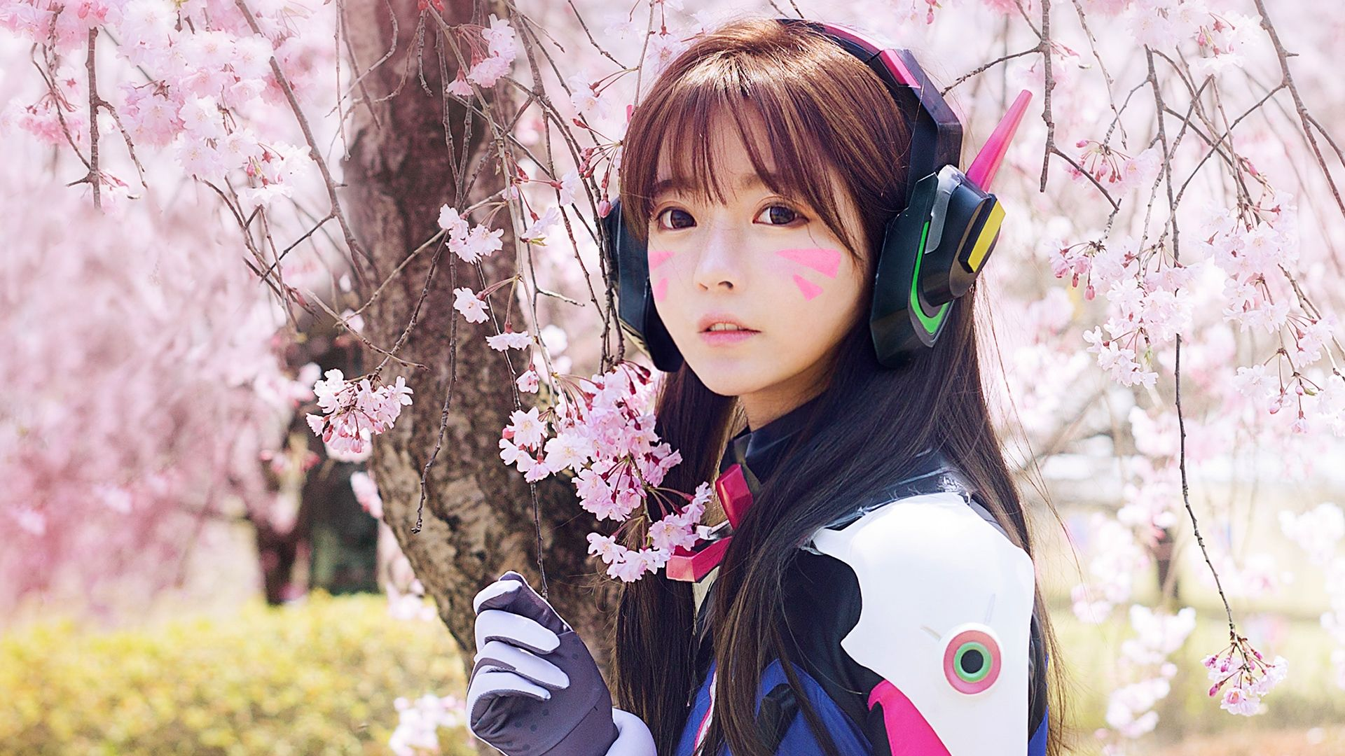 Cool Dva Overwatch Cosplay 1920X1080 Wallpaper -7391