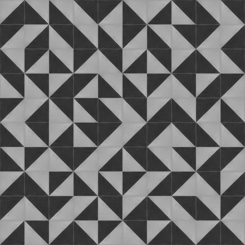 Oblique modern cement tiles tesselle decorative for Modern white floor tile