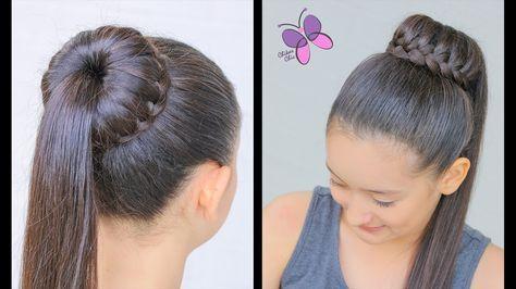 Dona   Moño con Cascada Peinados con Trenzas Peinados Faciles