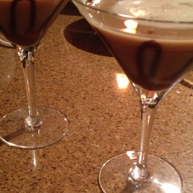 Sinful Martini : 1 Part Cake Vodka 1 Part Whipped Cream