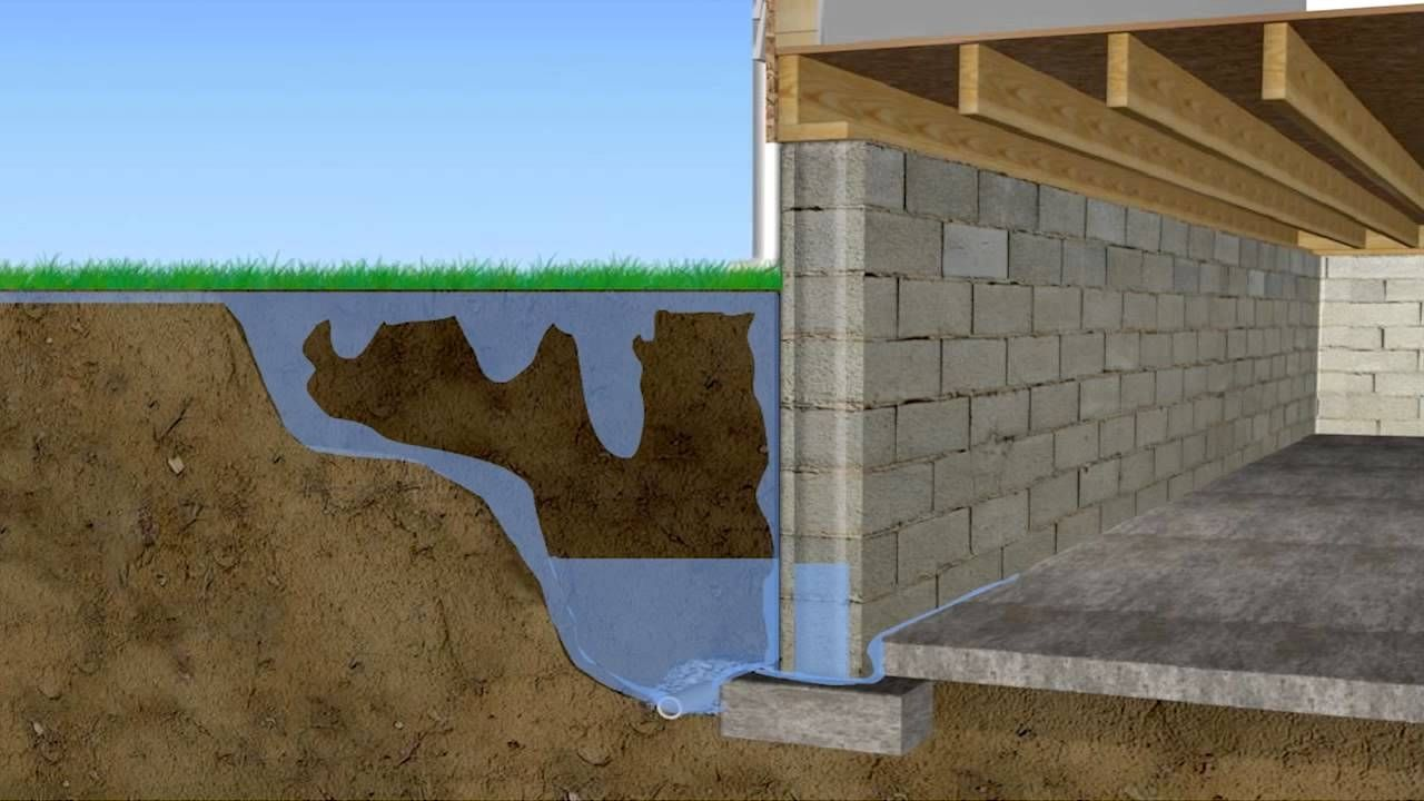Elegant Concrete Basement Walls Crumbling