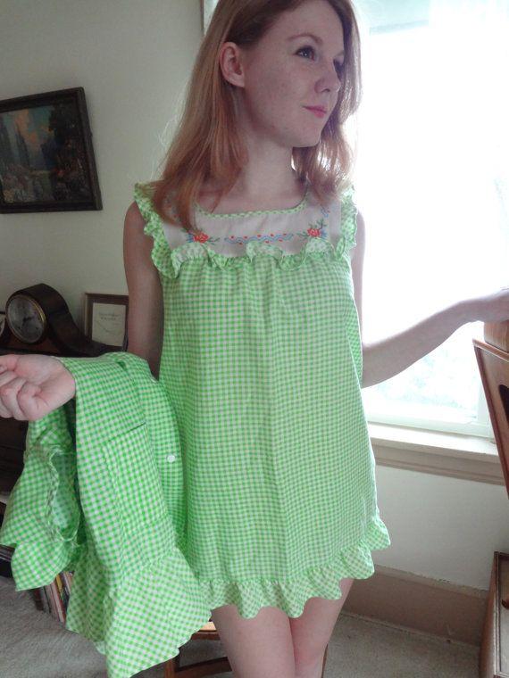 ca17d92b9e Vintage Baby Doll Pajamas Women s Size Medium Vintage Lingerie ...