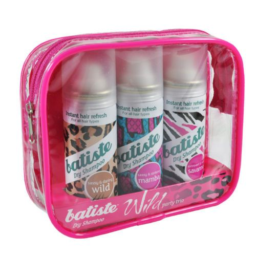 Batiste Wild Party Trio 1.6oz 50ml Dry Shampoo Shampooing Sec