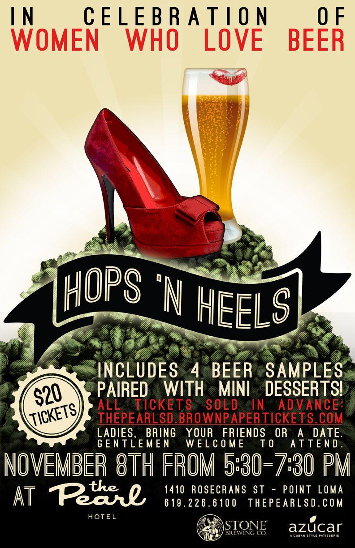 Hops N Heels Sdbw 2012 Event In 2020 Beer Festival Beer Poster Best Beer