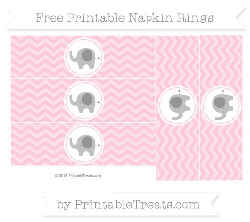 Free pink chevron elephant napkin rings elephant themed elephant themed baby shower or birthday party get this cute fun magenta chevron elephant napkin rings to print cut and wrap around your party utensils negle Choice Image