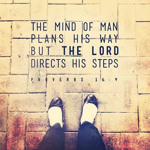 Image result for scripture man make plan god directs steps