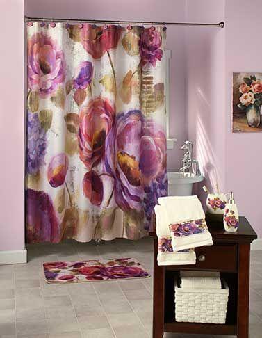 Watercolor Floral Bathroom Collection Floral Bathroom Floral