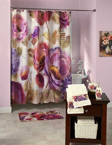 Watercolor Floral Bathroom Collection Cool Stuff Floral Shower