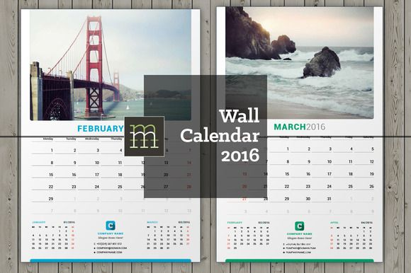 Wall Calendar 2016 (WC05) Calendars 2016 and Stationery templates