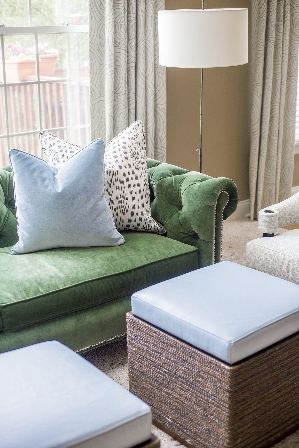 green velvet sofa, chesterfield sofa, wesley hall ...