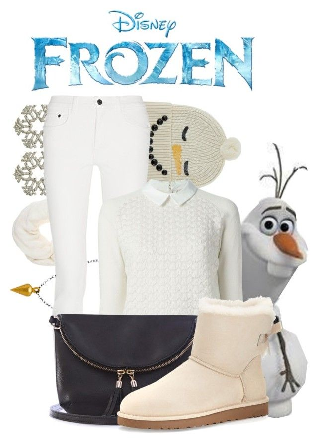 """""""Olaf: Winter Edition"""" by disney-0utfits ❤ liked on Polyvore featuring Tità Bijoux, Passigatti, Zina Kao Exclusives, Markus Lupfer, Disney, Proenza Schouler, Tory Burch, Warehouse and UGG Australia"""