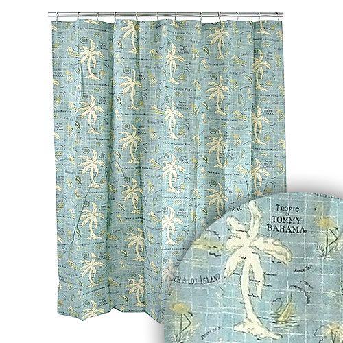 tommy bahama island song shower curtain