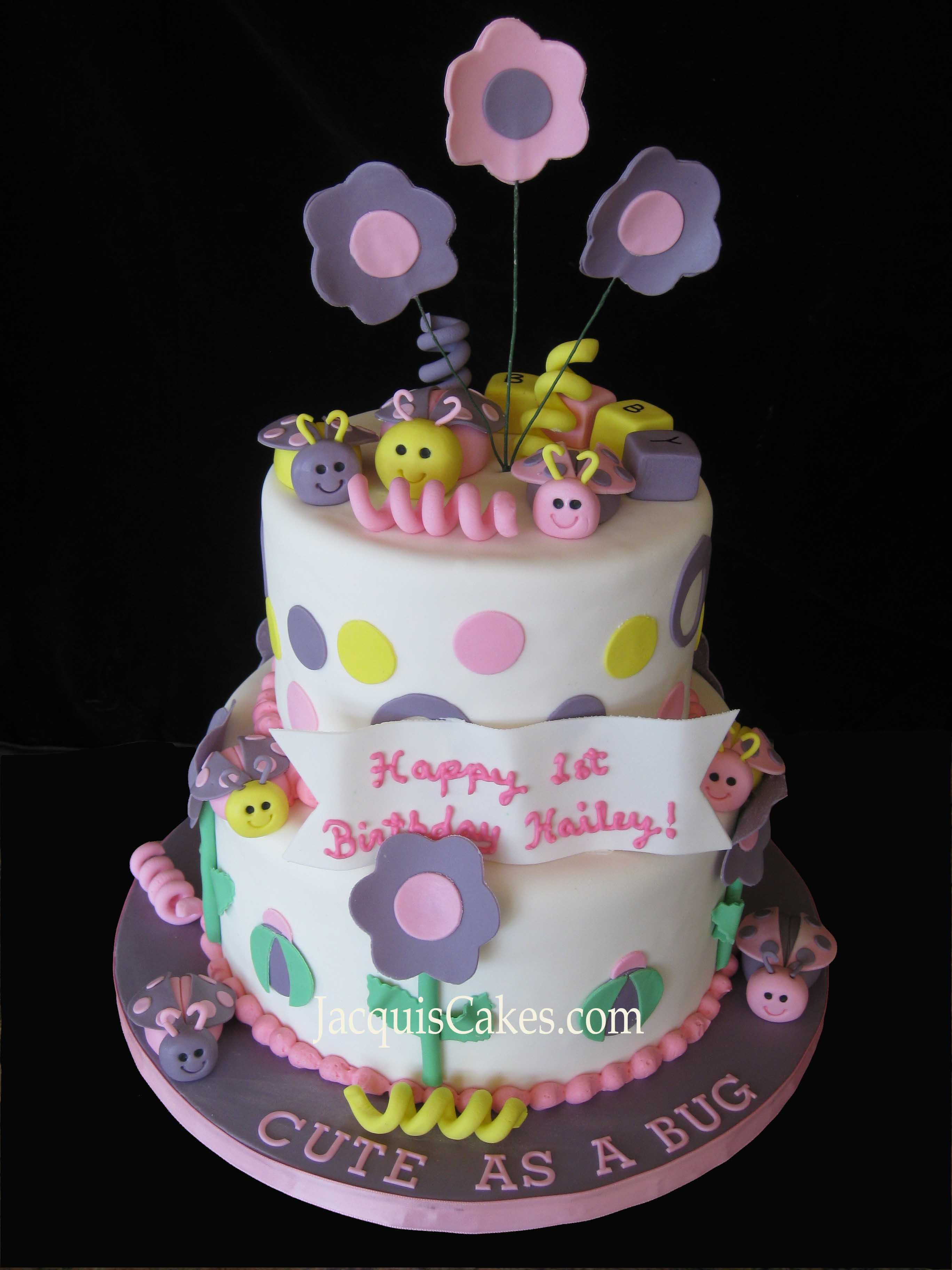 Cute Girl Birthday Cakes For A Babys 1st Birthday 6 8 Round