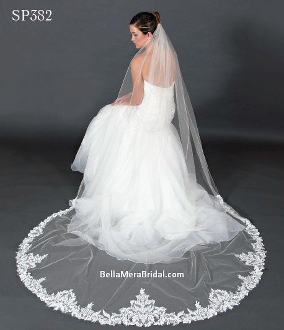 Giselle Bridal Veil Style Sp382 Sequins Beaded Floral Lace 108 Long Veil Styles Floral Lace Sequin Beading [ 1280 x 1102 Pixel ]
