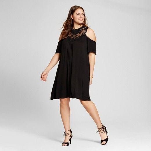 Women\'s Plus Size Cold Shoulder Dress - 3Hearts : Target ...