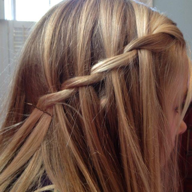 Waterfall braid | School hairstyles | Pinterest | School hairstyles ...