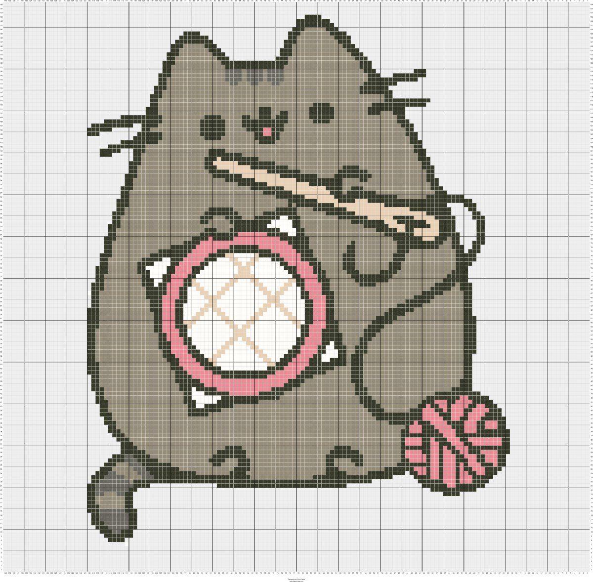 Pattern] Pusheen Cross Stitch Image : CrossStitch | Stitch | Cross