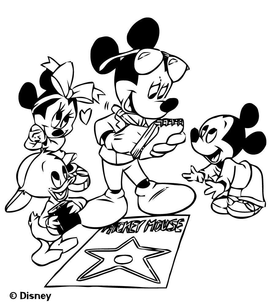 38 Coloriage A Imprimer Disney Format A4 in 2020 | Mickey mouse coloring pages, Mickey coloring ...