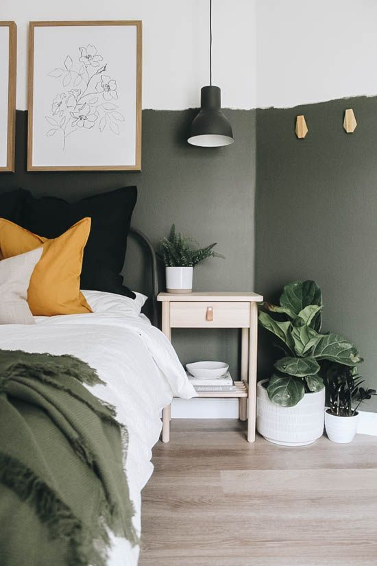 Photo of Guest Bedroom Reveal with IKEA in 2020 | Guest bedroom, Guest bedroom makeover, Olive green bedrooms