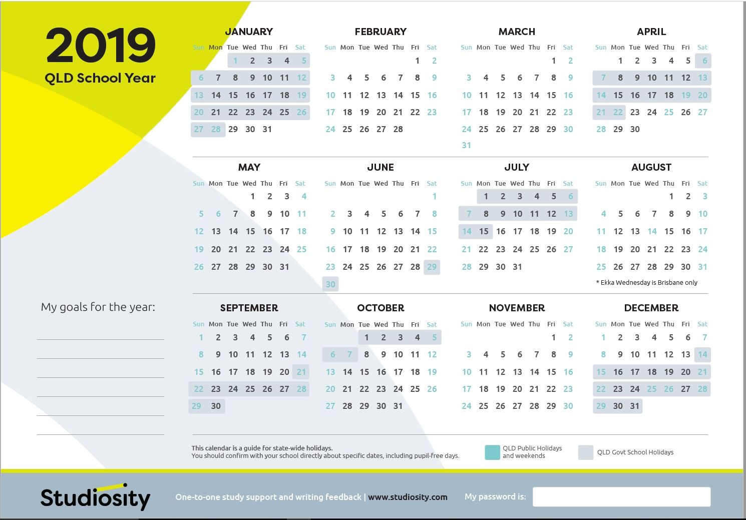 School Terms And Public Holiday Dates For Qld In 2019 Studiosity