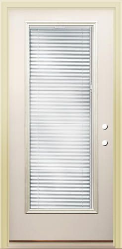 Rt 8 Full Lite Prehung Steel Door With Blinds Between The Glass 36 Back Side Yards