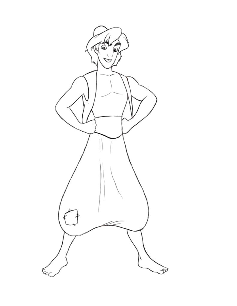A few of you have requested that I do a tutorial on how to draw ... for Simple Aladdin Drawing  117dqh