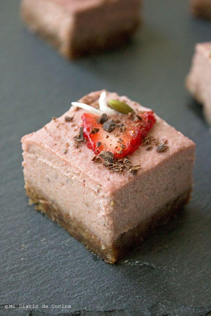 Cheesecake de frutilla vegano