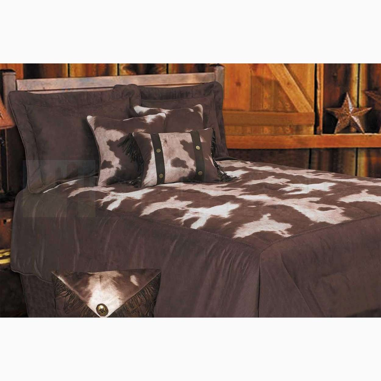 Sunland Home Decor Sunland Home Decor Hm Ws3067 Super King 7 Pc Faux Cowhide