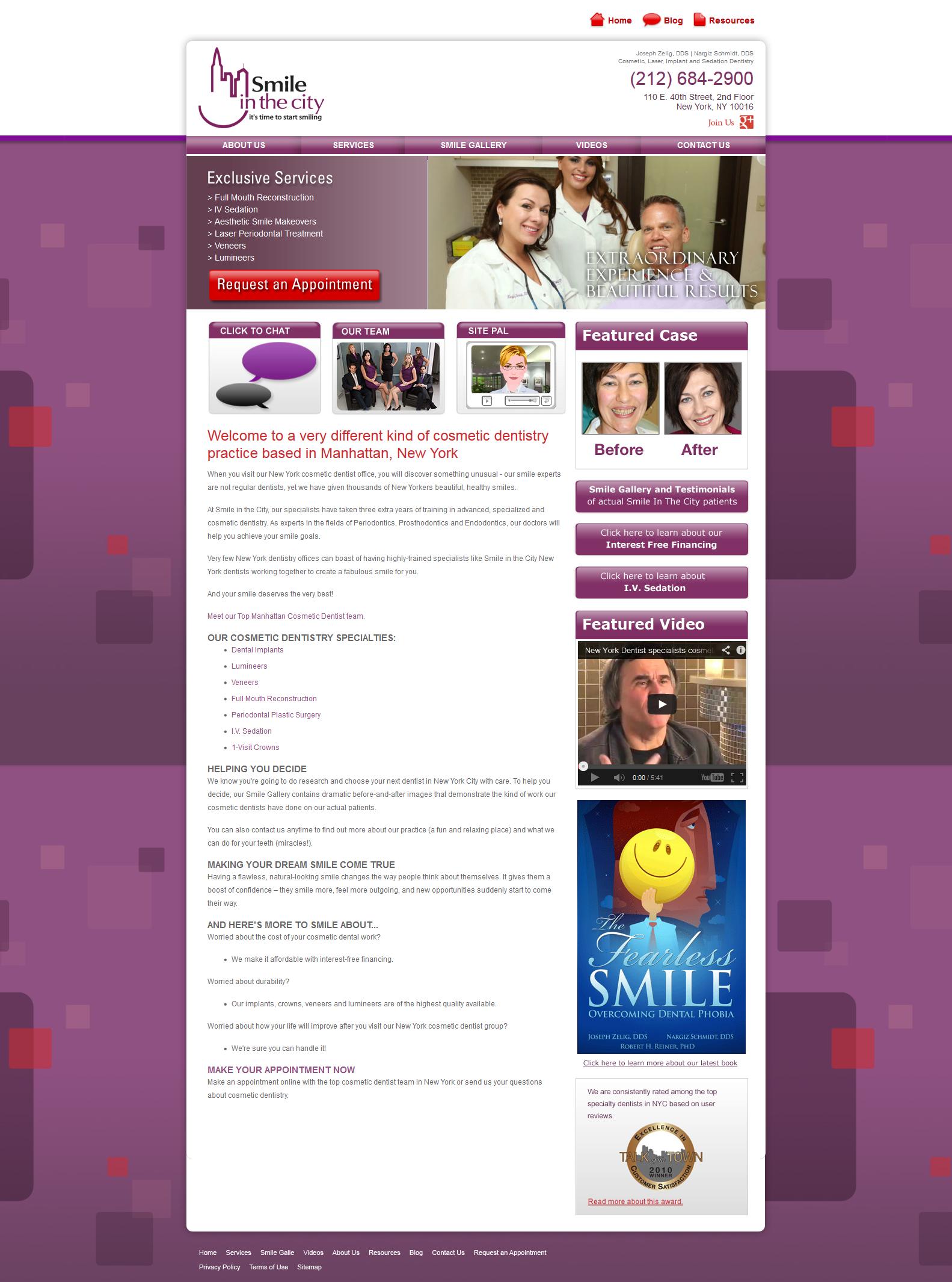 I Design this Website landing Page for smileinthecity. I am using Photoshop CS5  www.smileinthecity.com