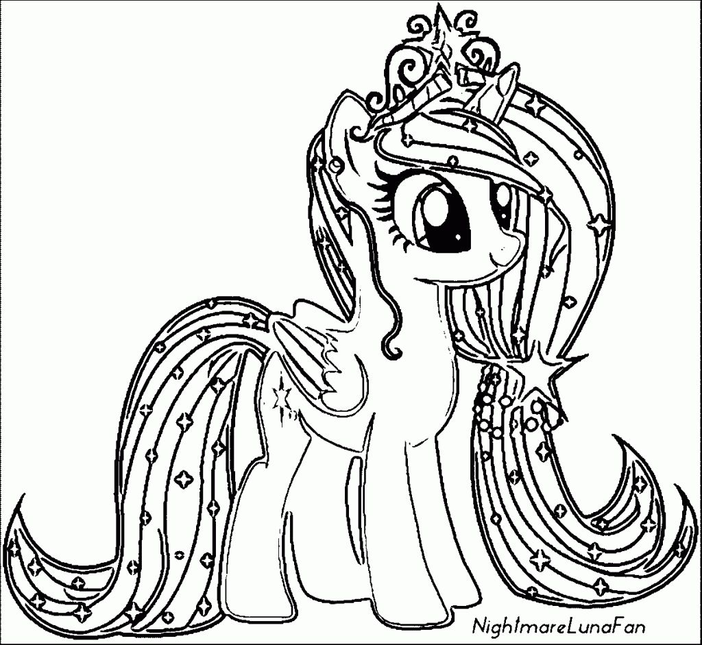 Princess Alicorn Coloring Page Free Printable Pages New Within My Little Pony Coloring Unicorn Coloring Pages My Little Pony Unicorn