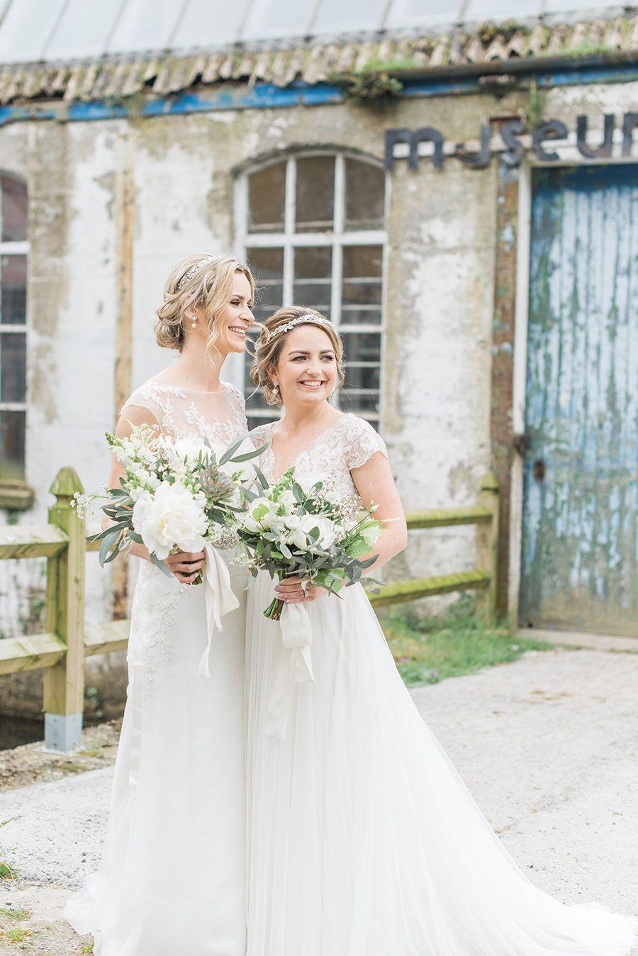 The Sweetest Wedding At The 18th Century Millhouse In Ireland Bridal Beauty Wedding Lesbian Wedding [ 1348 x 900 Pixel ]