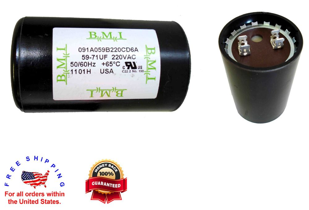 Hp Well Pump Control Box Motor Start Capacitor 220va 59 71 Mfd Uf 1 2 And 3 4 Hp Well Pump Candle Jars Capacitor