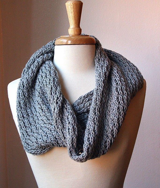 Infinity Scarf Knitting Pattern Snood Loop Bridget Cowl Pdf