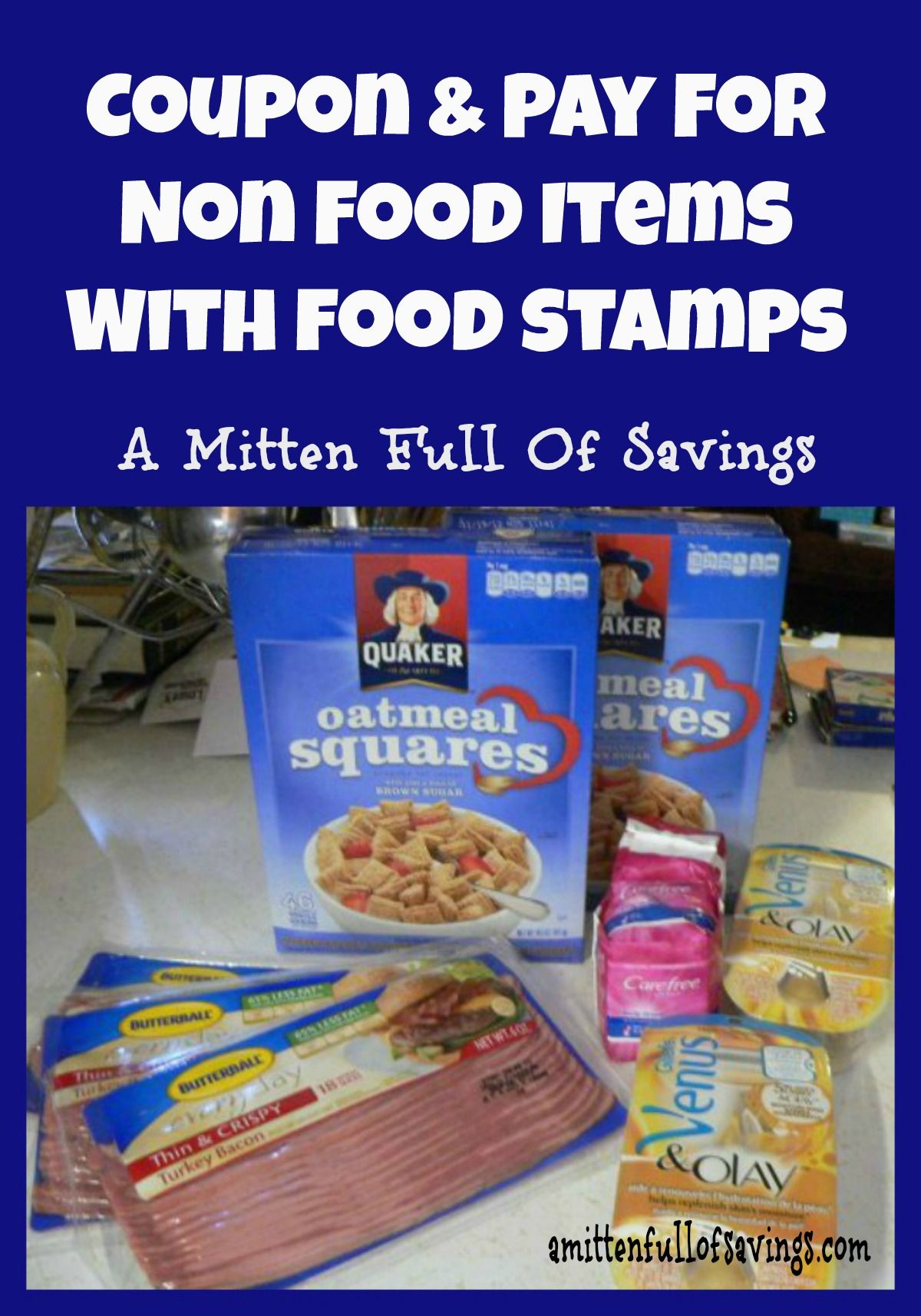 Coupon and pay for non food items with food stamps food