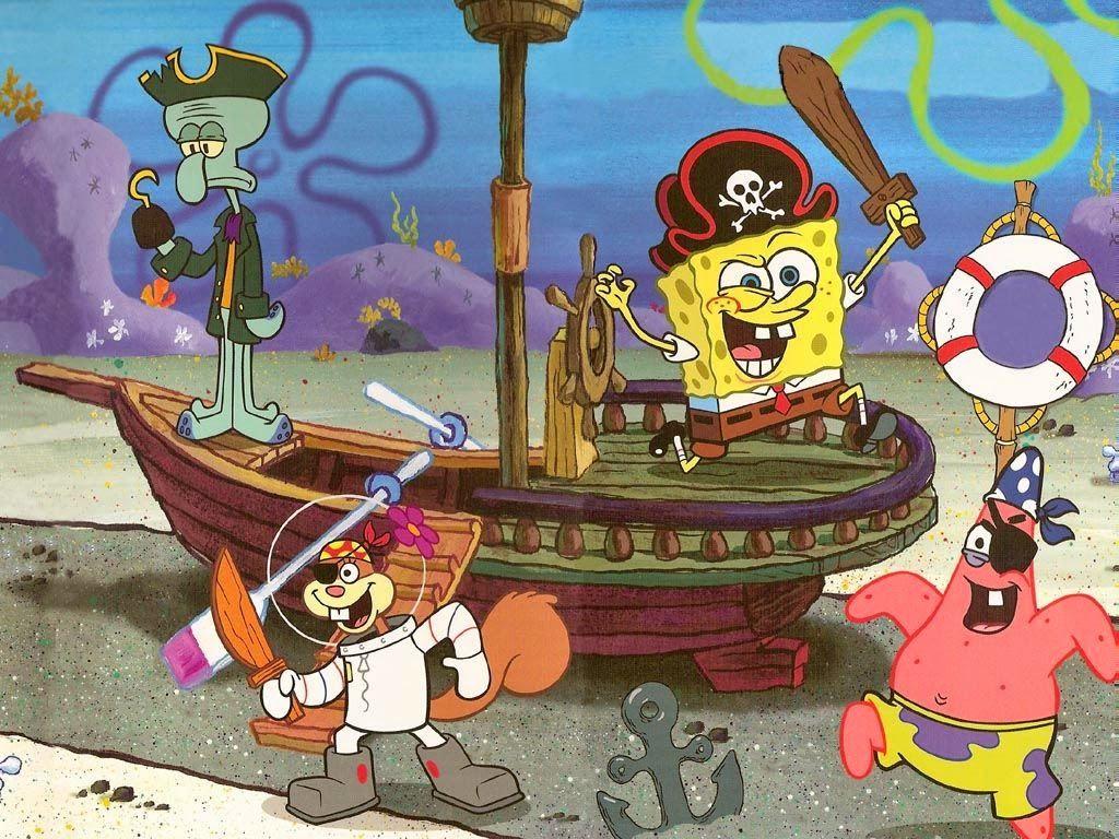 SpongeBob SquarePants Free Printable Cards or Invitations.