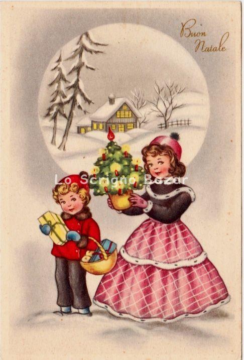 Auguri Di Natale Anni 50.Cartoline Italiane Cartoline D Altri Tempi Natale Vintage