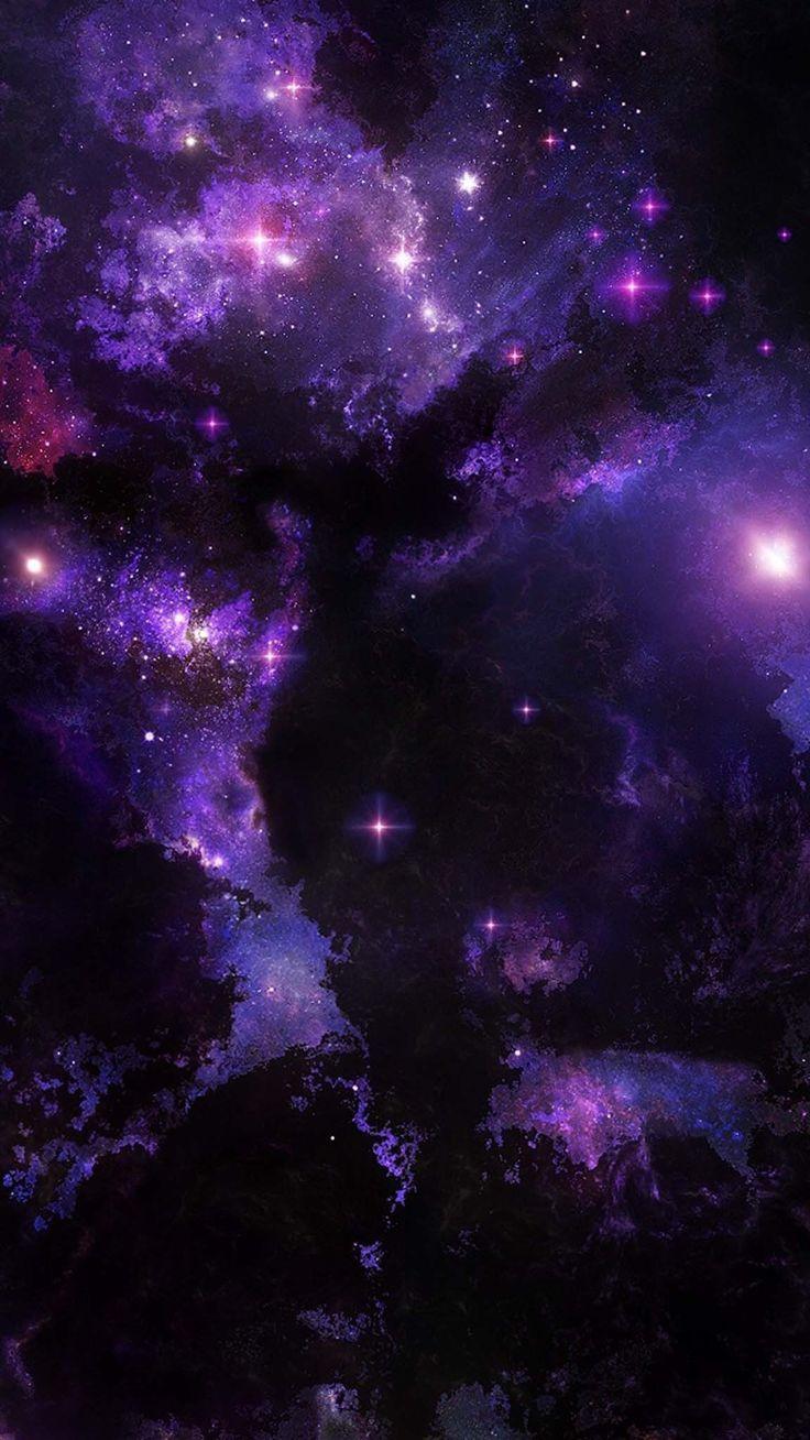 Purple Galaxy Galaxy Phone Wallpaper Galaxy Wallpaper Kawaii Wallpaper