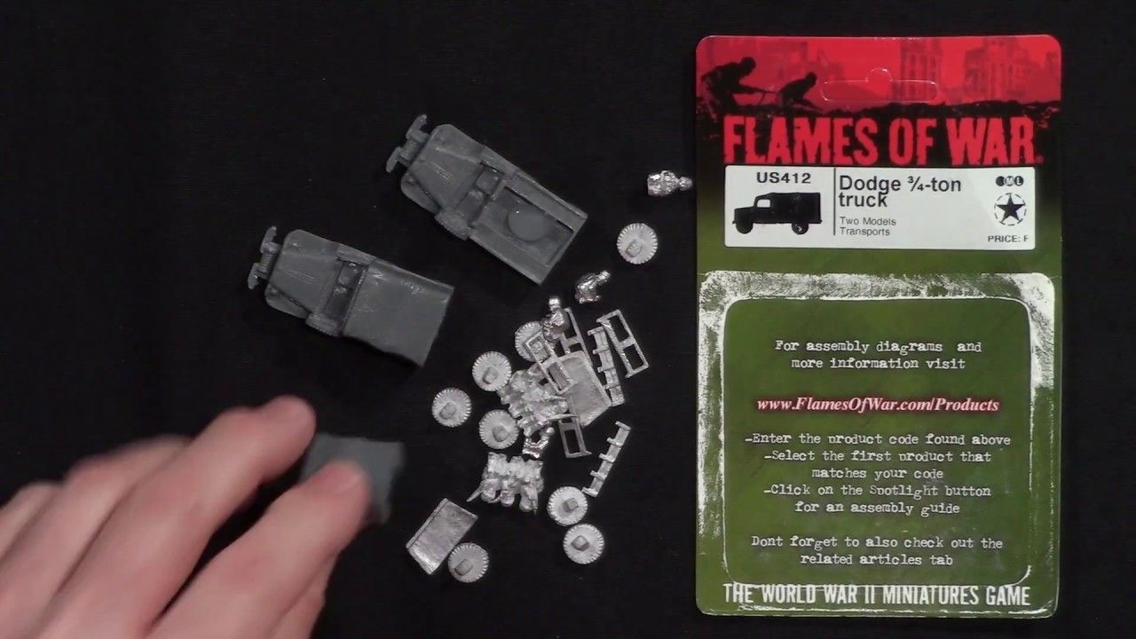 Unboxing Dodge 34 Ton Truck For Flames Of War By Battlefront
