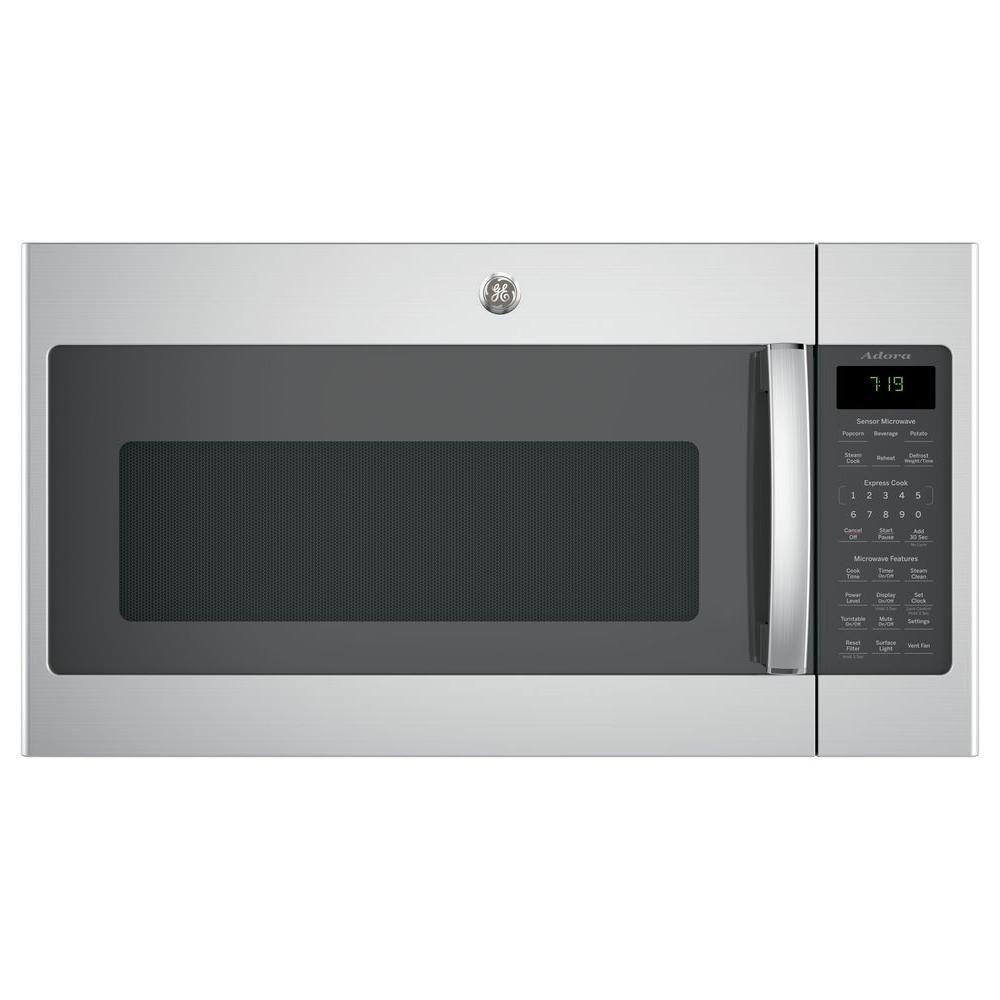 Ge Adora 1 9 Cu Ft Over The Range Microwave In Black Slate With Sensor Cooking Fingerprint Resistant Dvm7195flds Over The Range Microwaves Range Microwave Stainless Steel Microwave