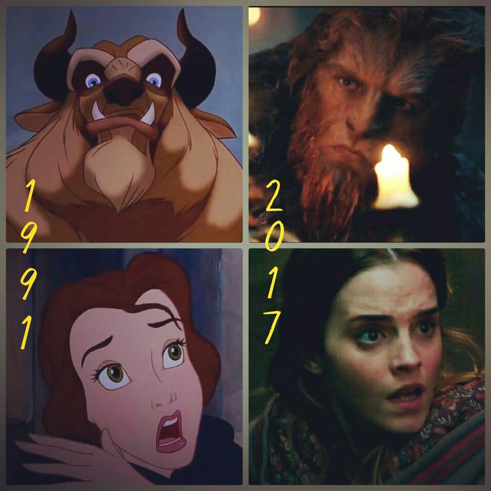 Collage By Me Beauty And The Beast 1991 Vs Beauty And The Beast 2017 Beauty And The Beast Movie Disney Beauty And The Beast Beauty And The Beast
