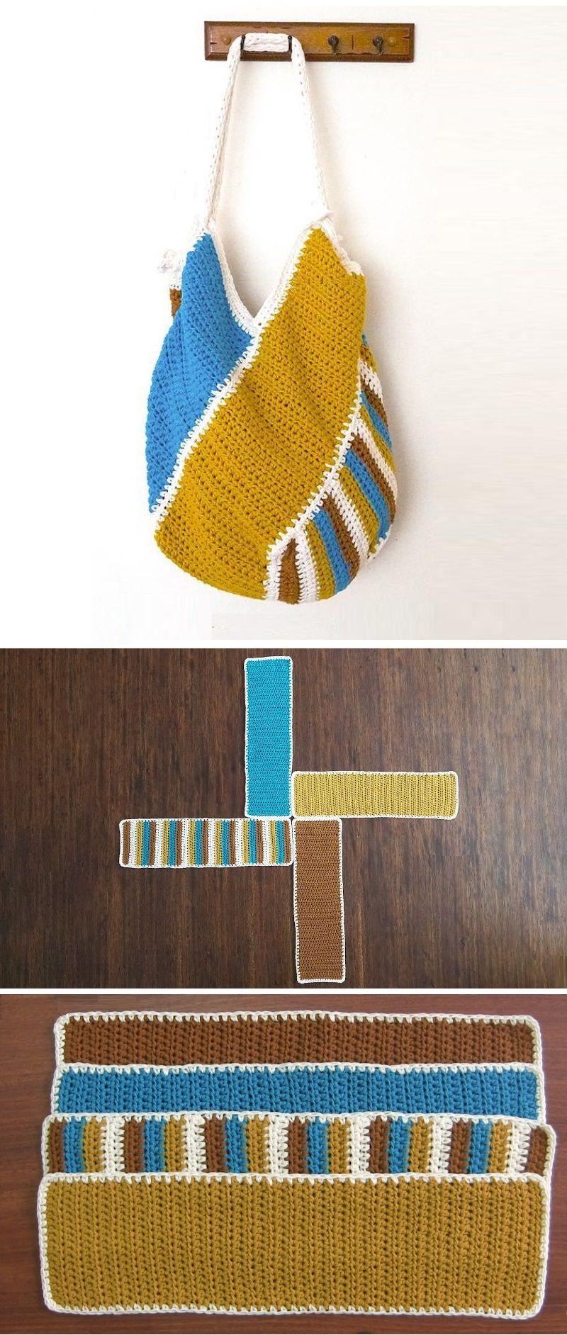 Crochet Motif Handbag from Squares