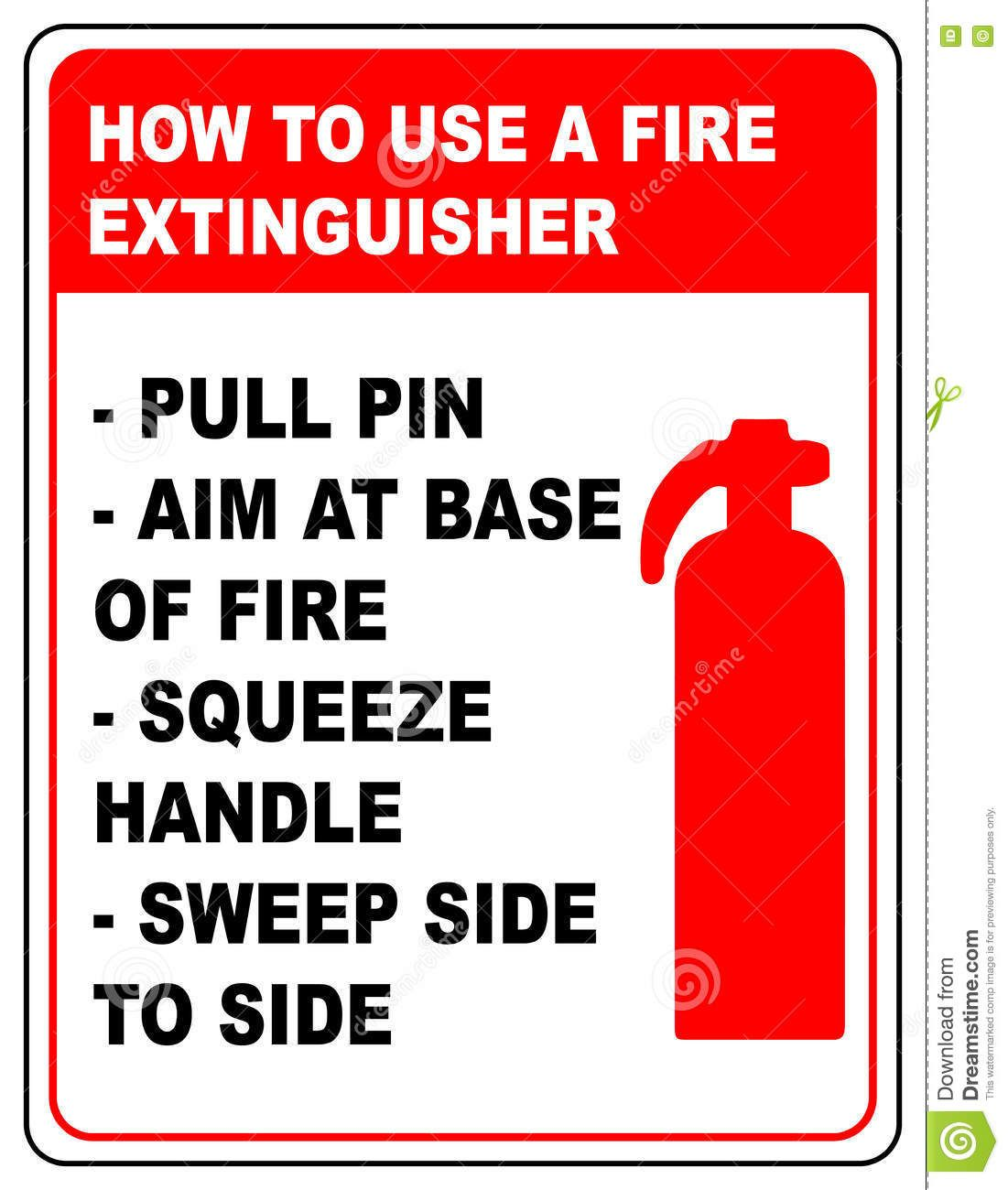 How to use fire extinguisher informational banner vector symbol how to use fire extinguisher informational banner vector buycottarizona