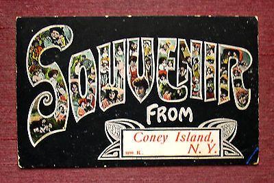 LARGE LETTER SOUVENIR GREETING CONEY ISLAND BROOKLYN NEW YORK CITY
