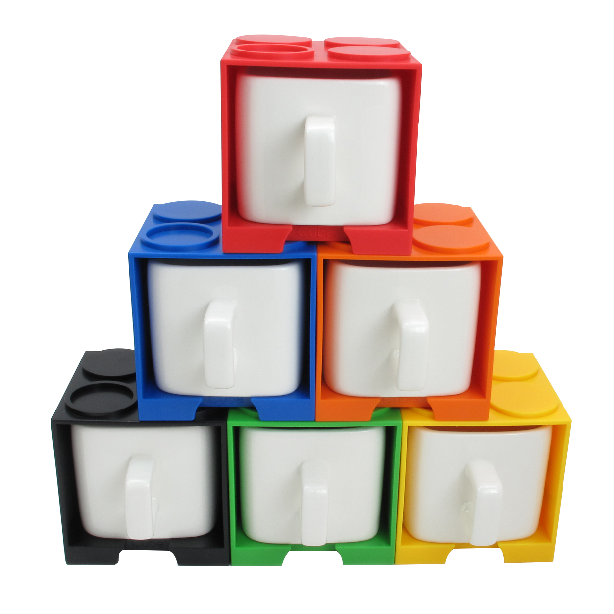 Cube Coffee Mug With Lego Shaped Stackable Storage Container Invention Vovogifts Gadget