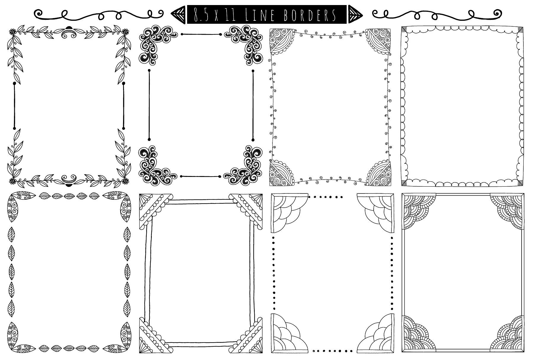 Decorative Borders Corners Frames How To Draw Hands Page Borders Design Decorative Borders