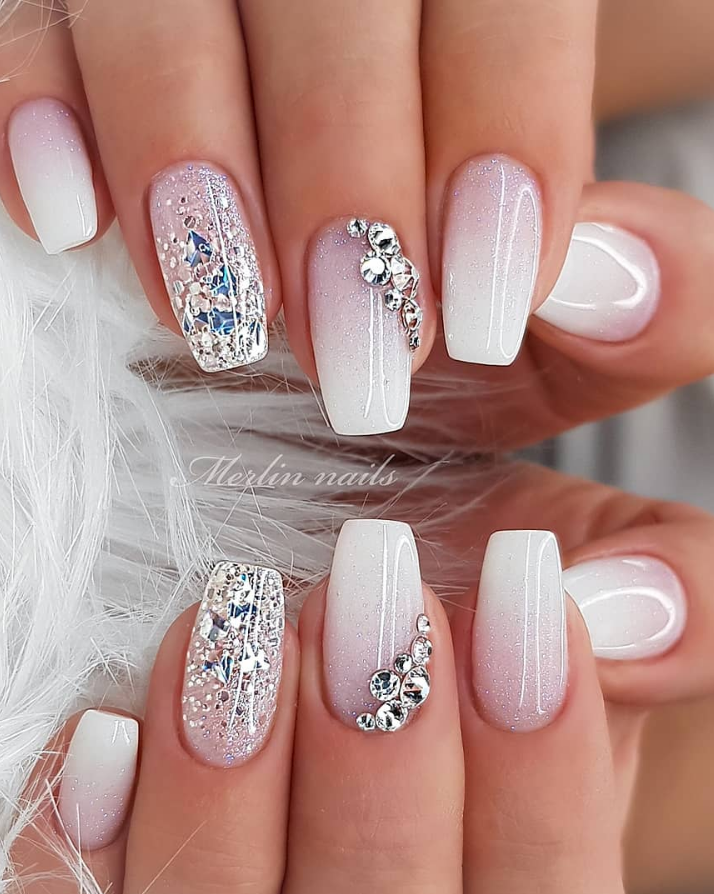 50 Beautiful Square Nails - Page 16 of 50 - Lily Fashion Style