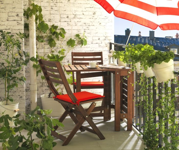 Merveilleux ÄPPLARÖ Gateleg Table   Perfect For The Balcony Or The Backyard.Two Folding  Drop