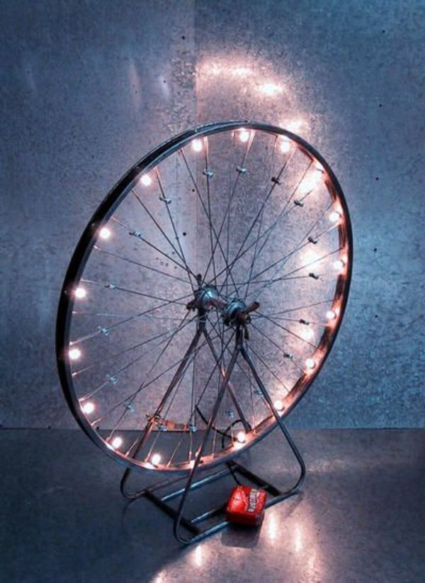 40 Creative Old Cycle Rim Craft Ideas #lights