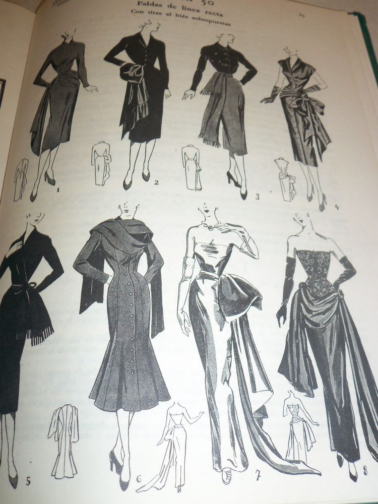 Vintage 1930s Sewing Patterns, System, Corte Sistema Marti, Gowns ...